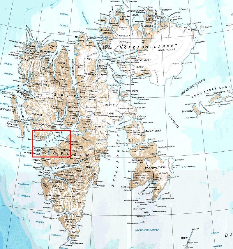 NAGISA - Svalbard map
